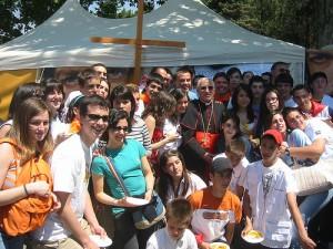 Jovenes del Arciprestazgo de San Miguel con nuestro Cardenal Rouco